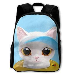 Cute Cat 3D Print Custom Unique Casual Backpack Schoolbag Sh