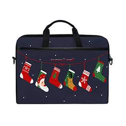 ALAZA Cute Christmas Socks in Snowflake 15 inch Laptop Case