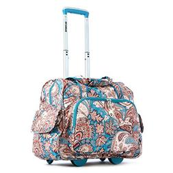 Olympia Deluxe Fashion Rolling Overnighter, Paisley