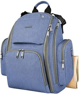 Diaper Bags for Boys, Large Baby Diaper Bookbag with Changin