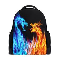 ALAZA Dragon Fire Casual Backpack Waterproof Travel Daypack