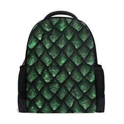 ALAZA Dragon Scale Casual Backpack Waterproof Travel Daypack