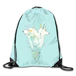 Hnmtown Drawstring Sports Backpack Bags Gym Bag Sack Party F