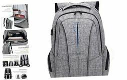17 Inch Laptop Backpack with USB Charging Port Anti-Theft Po