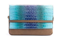 Edgy Blue Snake Skin Laptop Sleeve/Case bag for the new Ipad