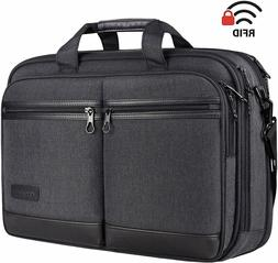 Expandable Laptop Briefcase Messenger Shoulder Bag Computer