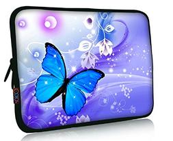 "FBAps17-004 NEW Art design Blue butterfly 16"" 17"" 17.1"" 17.3"