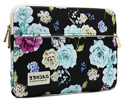 Dachee Colour Flower Pattern 13 inch Laptop Sleeve with Pock