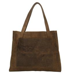 Genuine Leather Tote Bag Large Utility Laptop Notebook Magaz