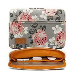 Canvaslife Gray Roses Pattern 360 Degree Protective 13 inch