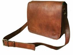 JSV Satchel Briefcase Bag Vintage Crafts Leather Messenger M