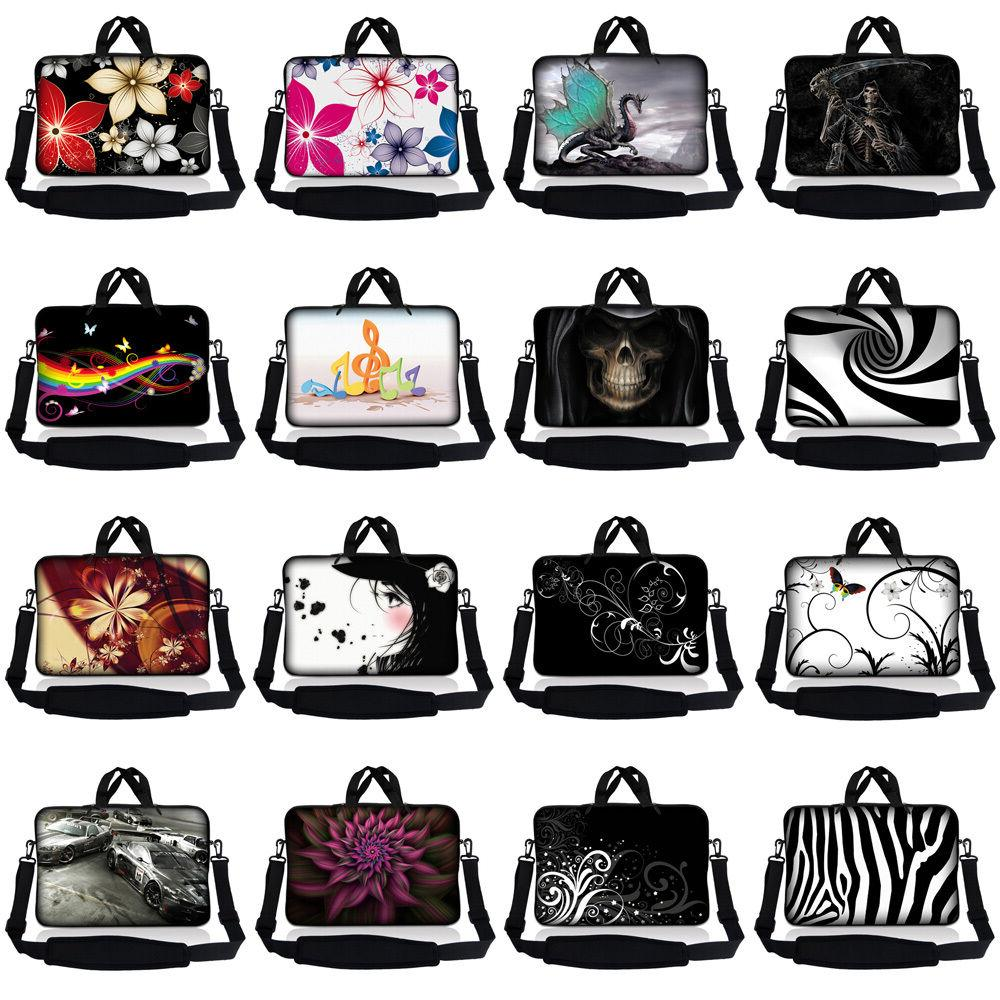 Laptop Neoprene Case Sleeve With Strap Fits 10 17.4 inch