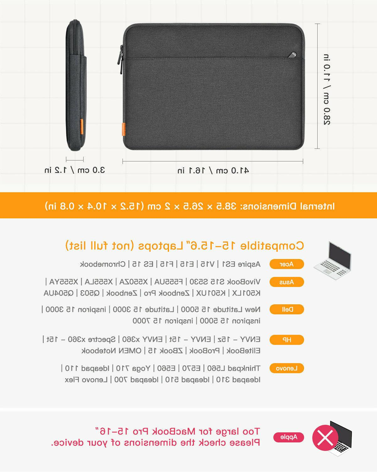 Inateck 15-15.6 Inch Laptop Sleeve Case with Accessory Pouch