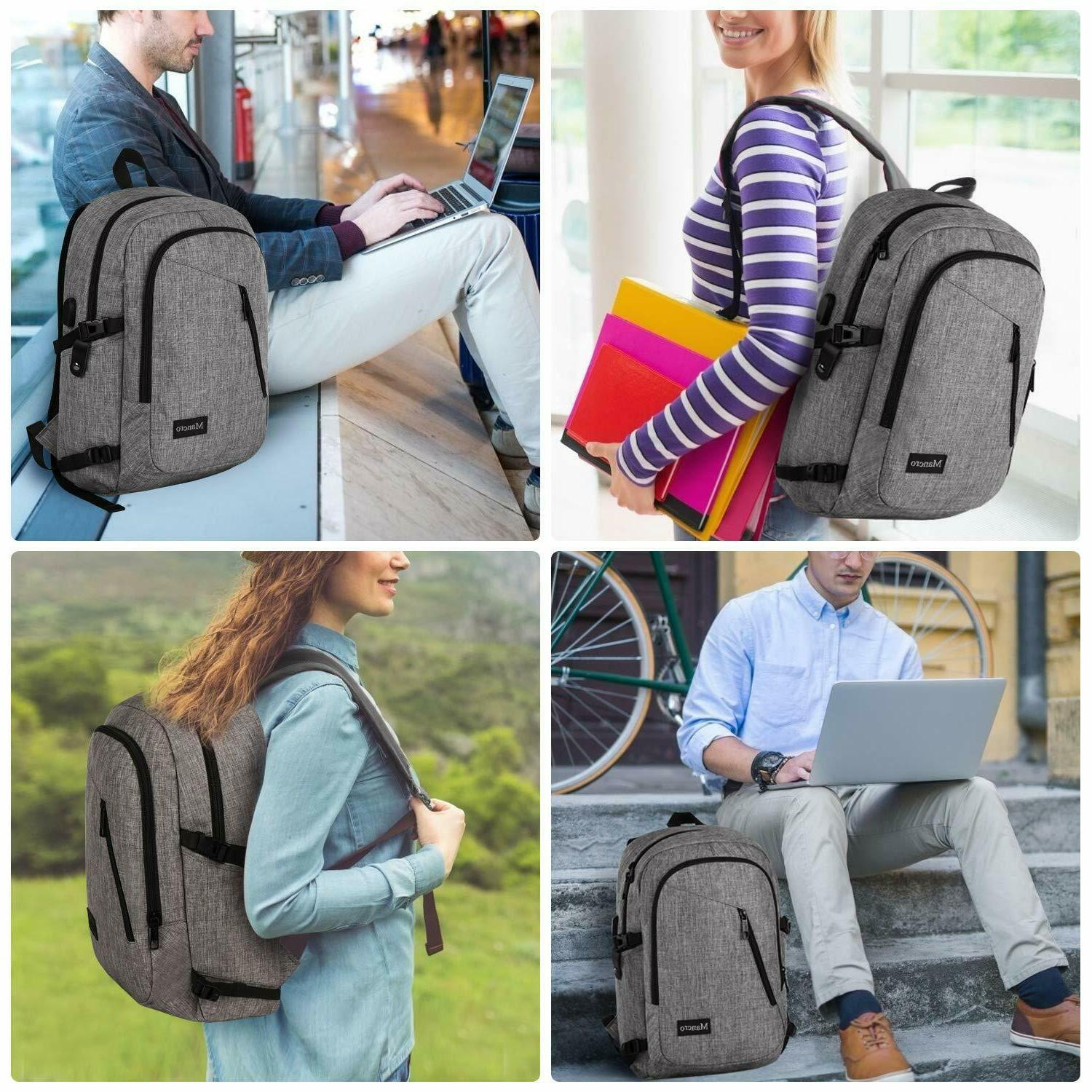 Mancro School Backpack, Anti Theft Bag