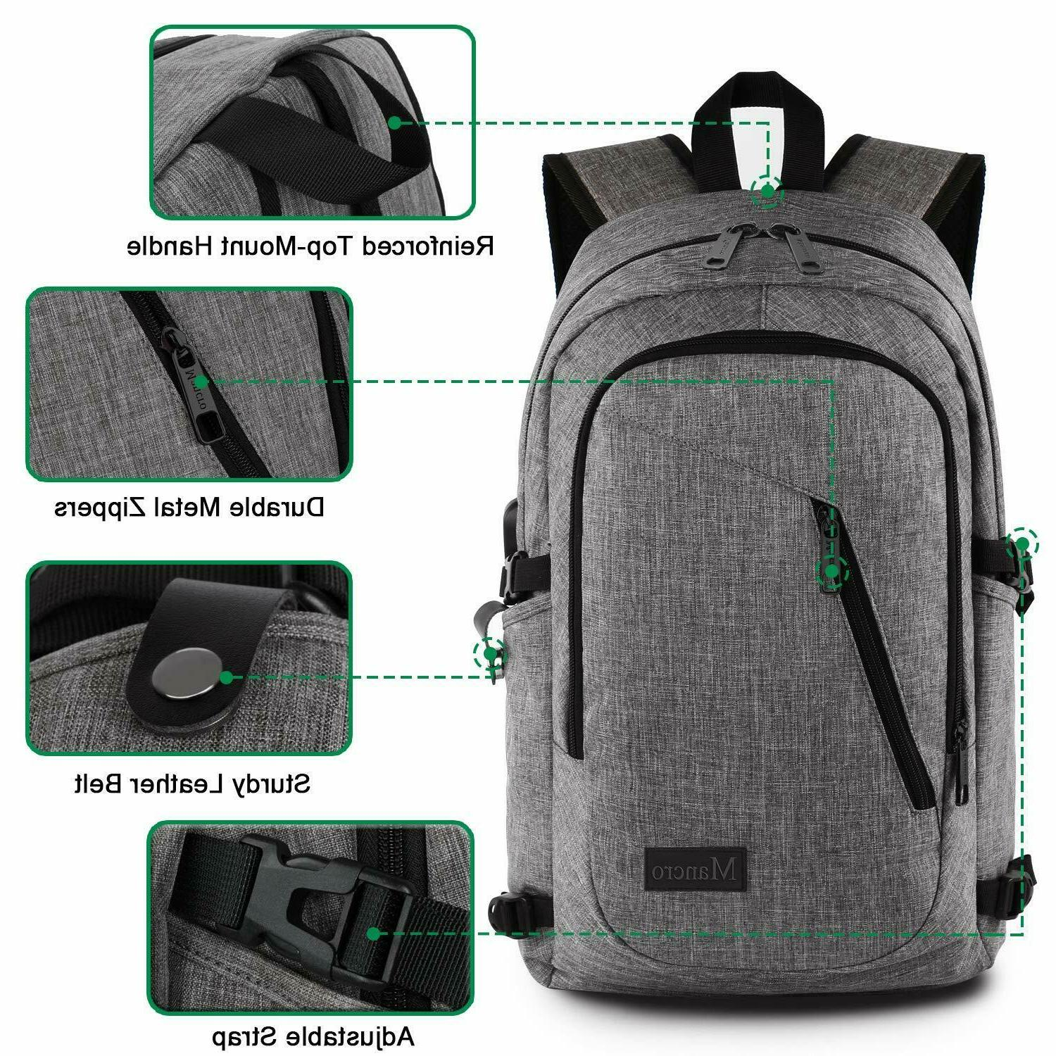 Mancro 15.6 Backpack, College Anti Durable Bag