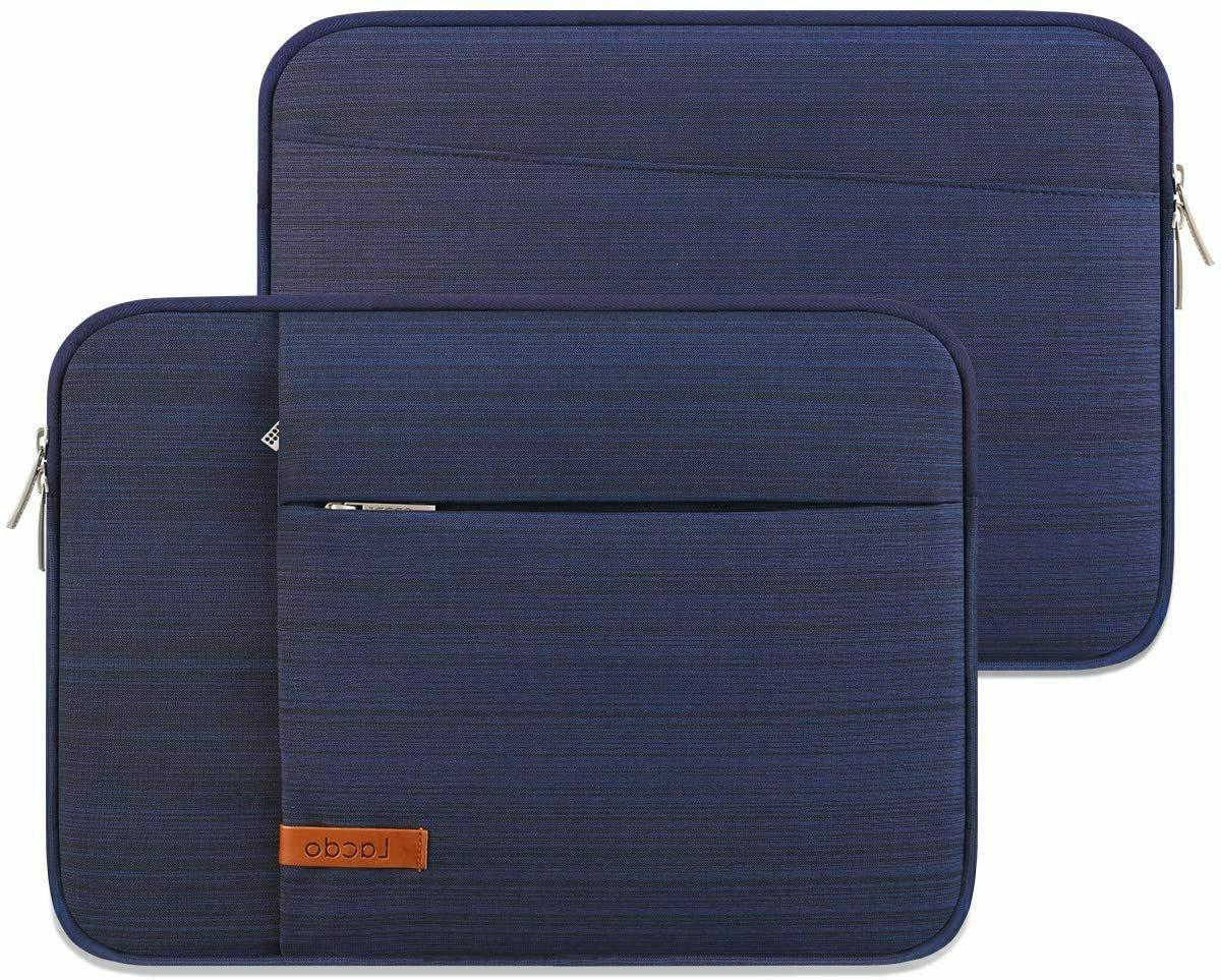 """15"""" Laptop Sleeve Carrying Case Travel Notebook Bag Water Blue NEW"""