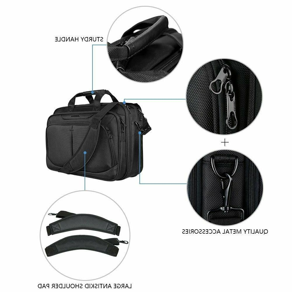 17.1 inch Briefcase Water-Repellent, Expandable School Travel