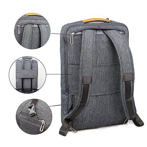 17.3 Inch Convertible Laptop Backpack - WIWU Multi Functional Resistant Knapsack School College and fit inch