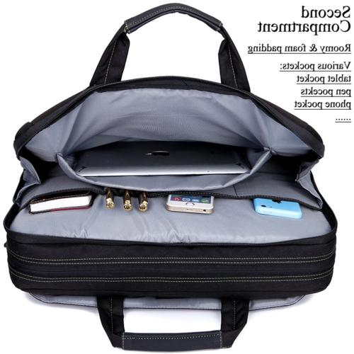 BRINCH 17.3 Inch Shockproof Laptop Case Messenger Bag for 17-17.3 and
