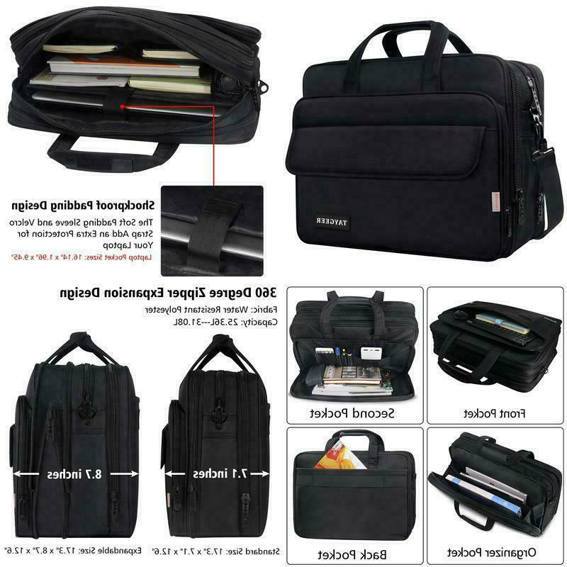 17 inch laptop bag large briefcase