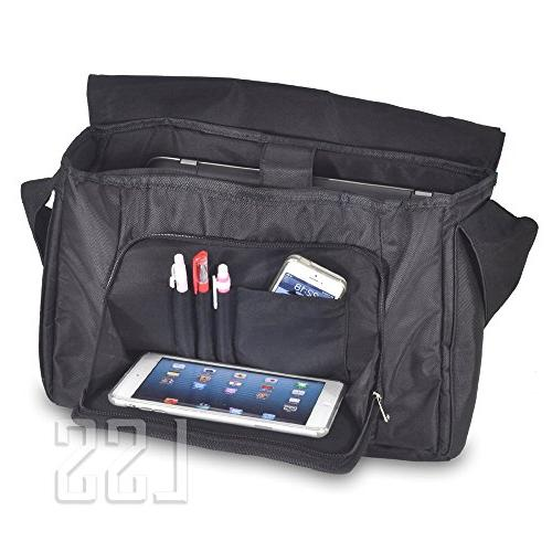 """LSS Laptop Compartment with Colorful Trees Carrying Case for 16"""" 17.3"""" Smaller Notebook"""