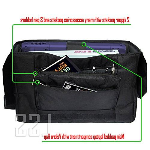 """LSS Laptop Compartment with Trees Carrying 16"""" 17.3"""" Smaller Size Notebook"""