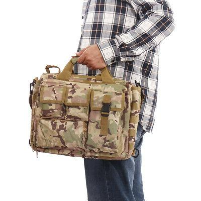 17'' Men Tactical Military Briefcase Outdoor Travel