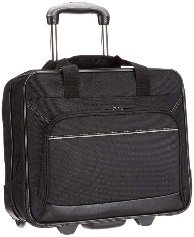 "17"" Wheeled Briefcase For Business Black"