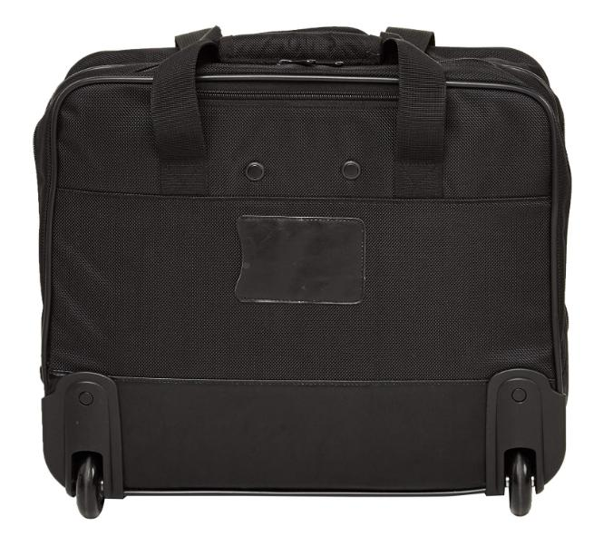 "17"" Wheeled Briefcase Business Carry On Black"