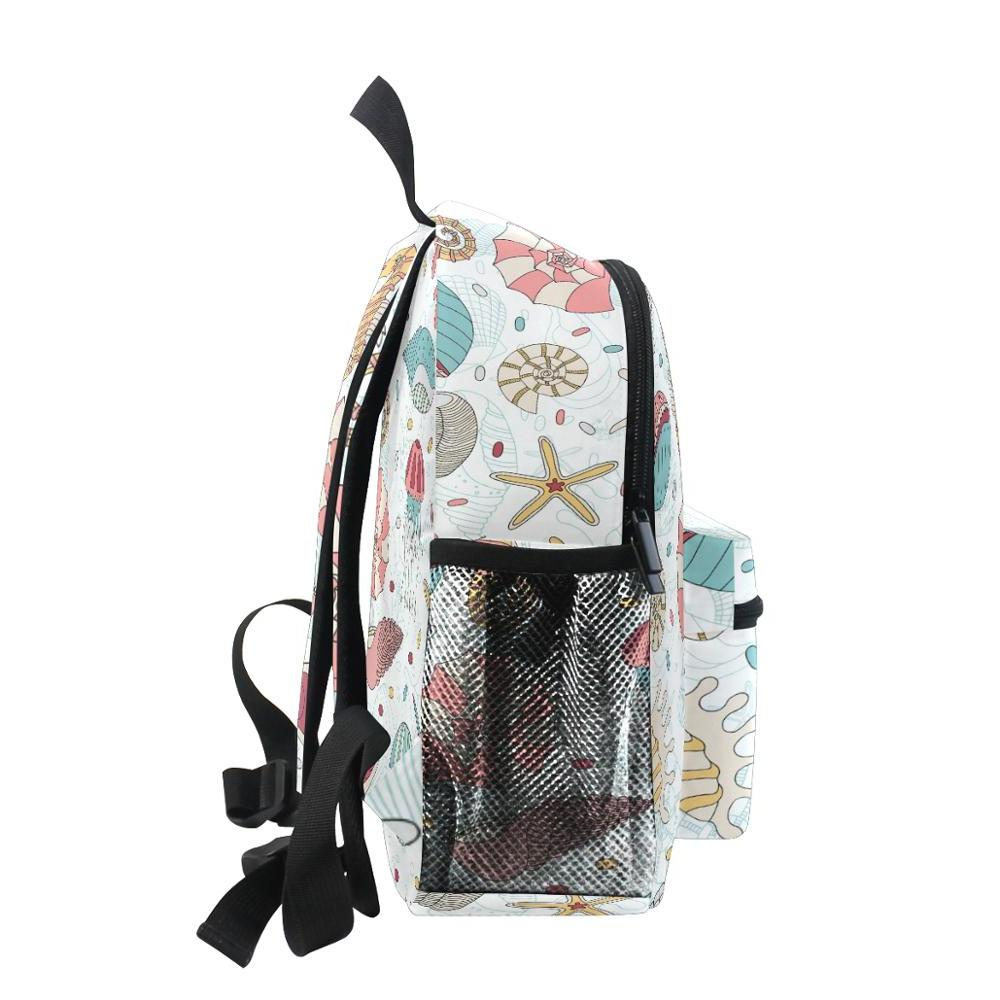 2019 Backpack Seahorse print For Teenagers Fashion Female <font><b>Laptop</b></font> Daypack