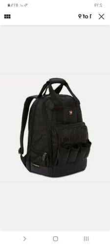 SWISSGEAR 2767 Tool Bag Large Durable Work Pack Backpack Wit