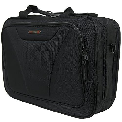 Alpine Cortland Laptop Organizer Briefcase Black
