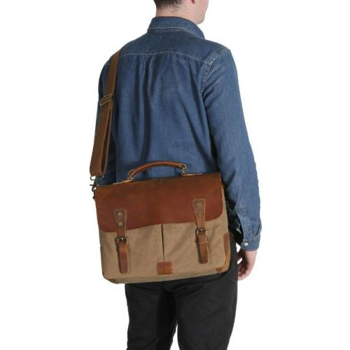 "Lifewit 14"" Messenger Bag Vintage Shoulder Laptop"