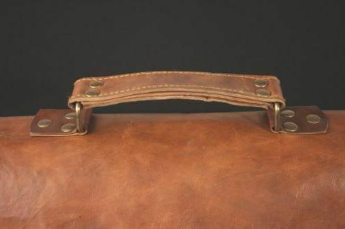Mens Genuine Vintage Leather Satchel Laptop Briefcase