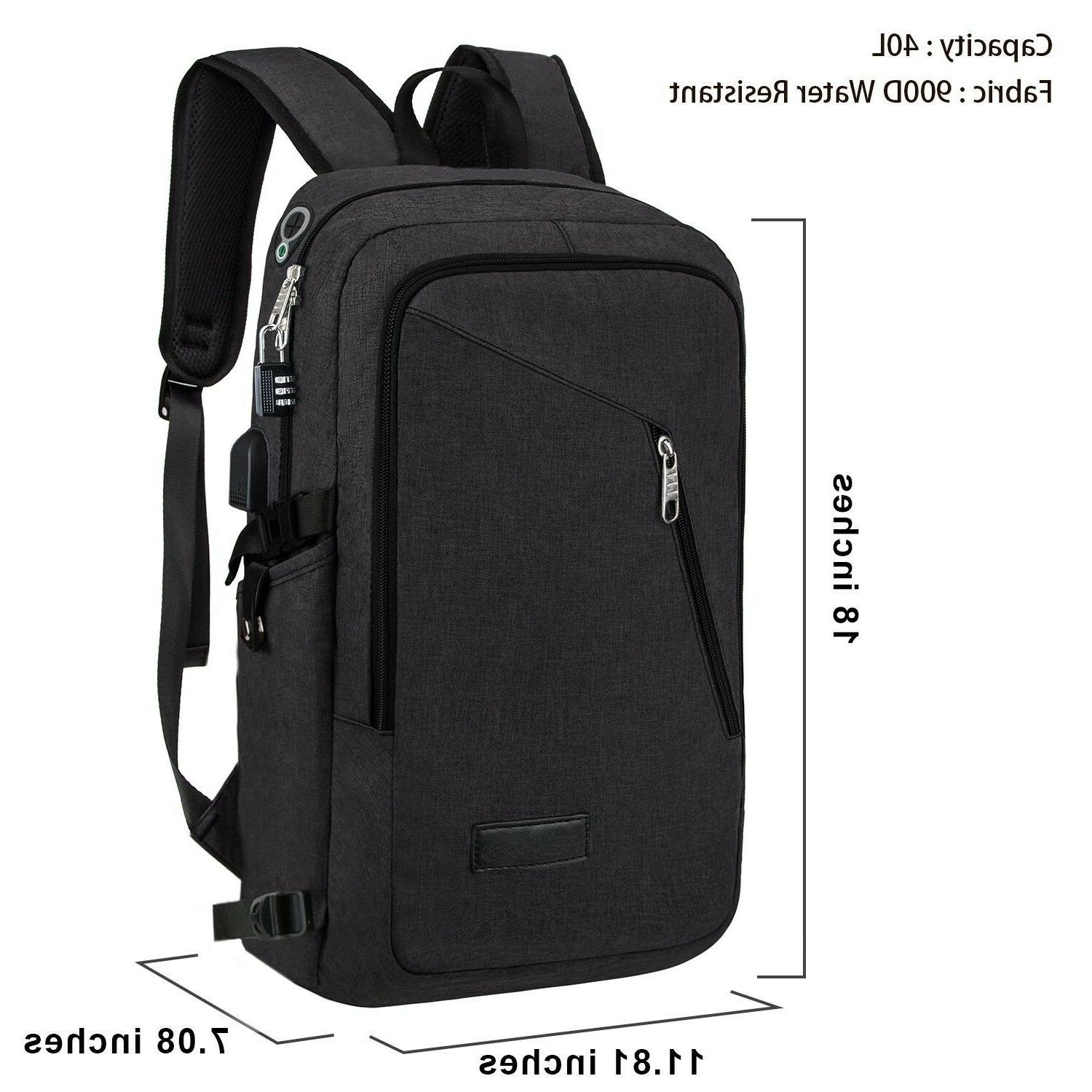 Anti-theft Travel Backpack Business Laptop Bag with Charger