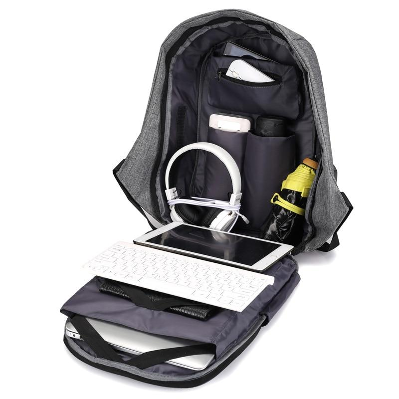 Anti-theft Rucksack Travel Large Business USB Charge Shoulder Bags