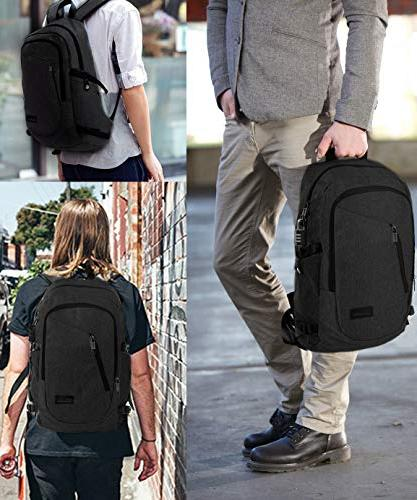 Backpack with USB Port 15.6 Bookbag for MacBook Computer, School Bag Women Mancro