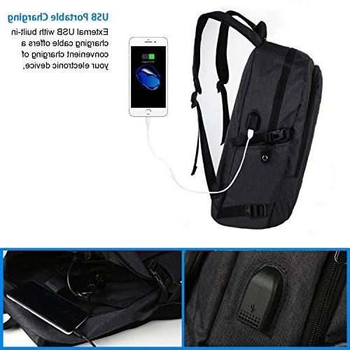 Anti Business Backpack with USB Laptop, Travel Bookbag MacBook School Computer Bag for Women Mancro