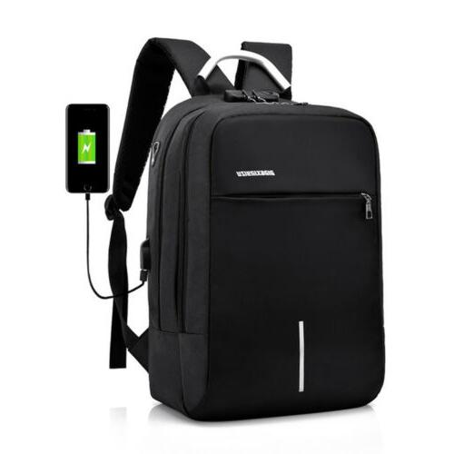 Anti-theft Backpack Charge Port School Travel Computer Men