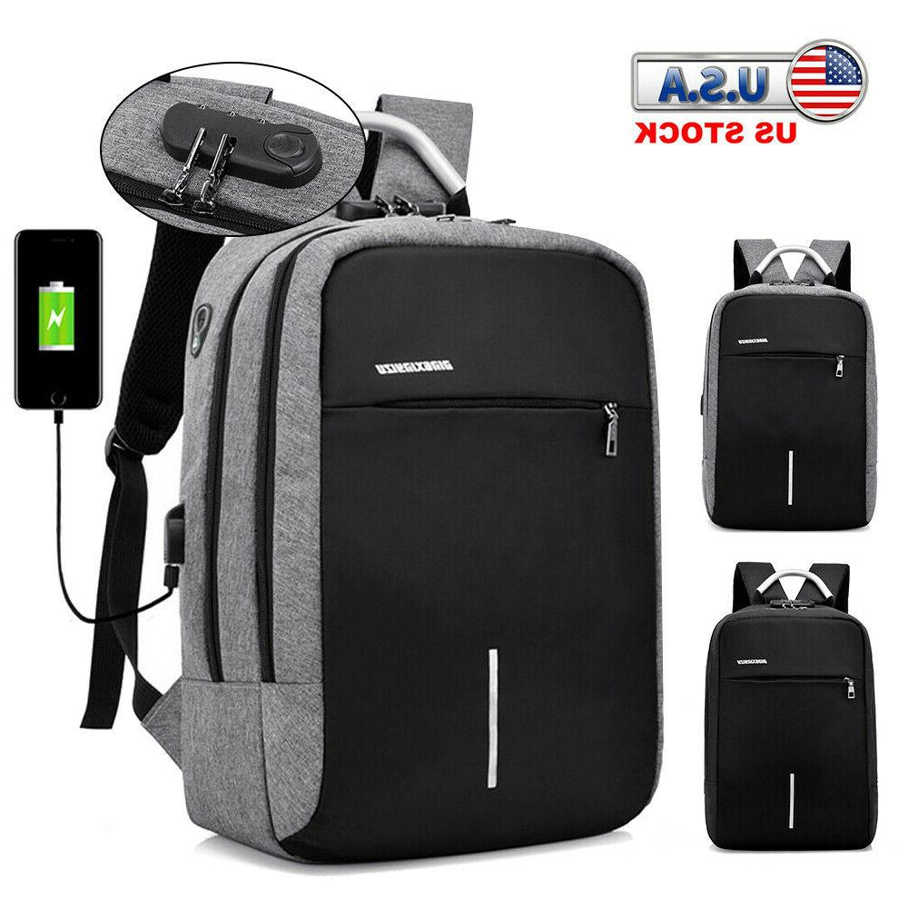 anti theft laptop backpack usb charge port