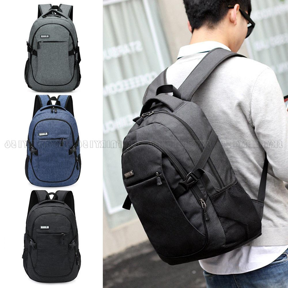 Anti-theft Mens Womens Charging Backpack Travel School Bag