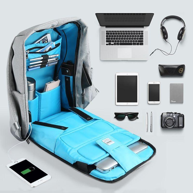 Anti-theft Backpack Laptop Book School Bag with