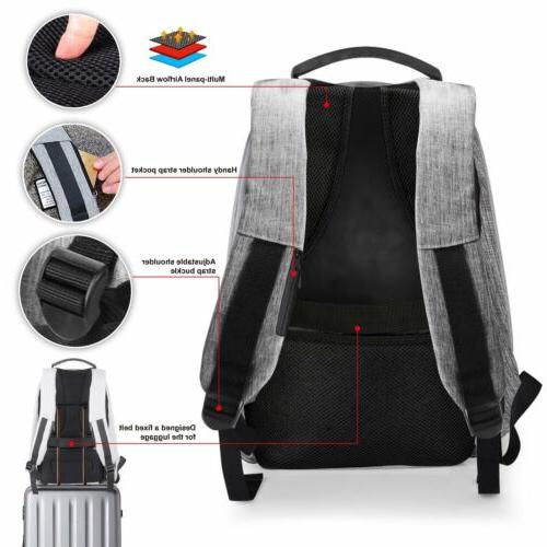 Anti-theft Water Notebook Backpack USB Port Bag