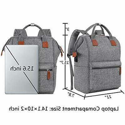 Backpack for Women, Inch Laptop USB Charging Port,Mancro