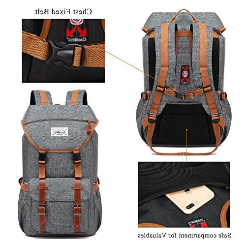 Travel CoolBELL Inches Laptop Backpack Outdoor Rucksack Hiking Knapsack School Daypack Business Bag