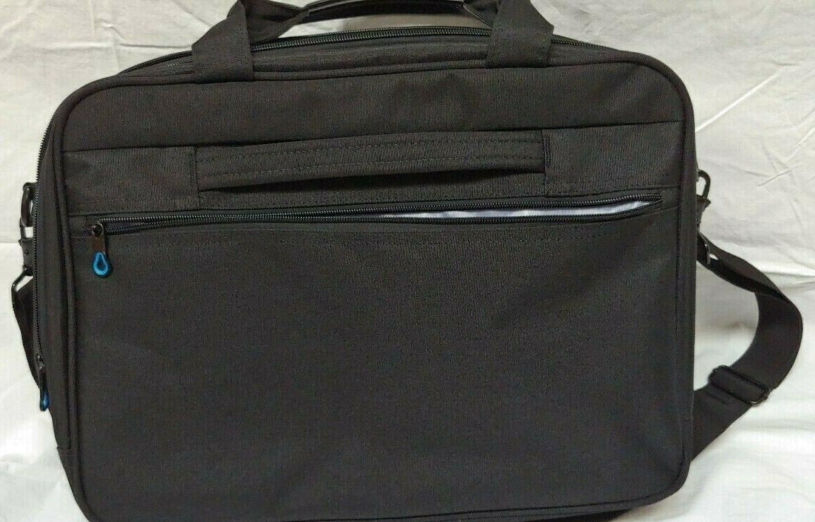 Kroser Black Laptop Bag Compartments w/Luggage Belt