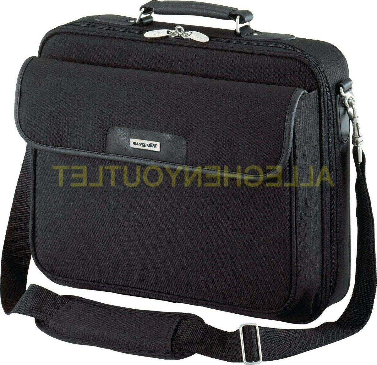 black padded carry bag with strap