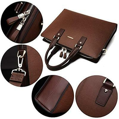 Briefcases Leather Laptop Slim Bags For Men Women