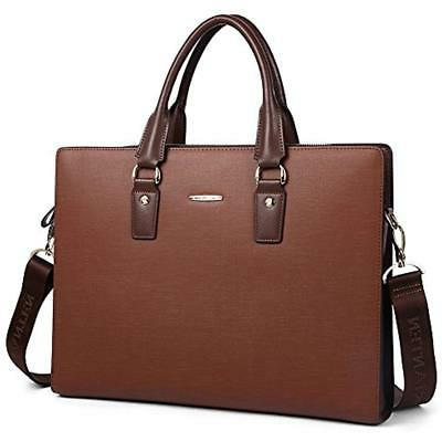 briefcases leather lawyers shoulder laptop business slim