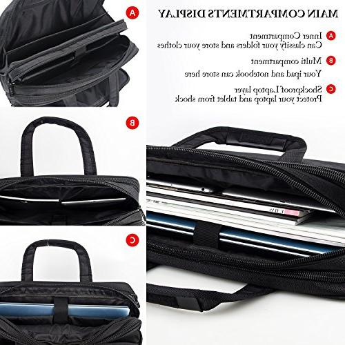 17 inch Travel with Organizer, Expandable Large Hybrid Bag, Water Resisatant Business Messenger and Women 15.6 Inch Tablet